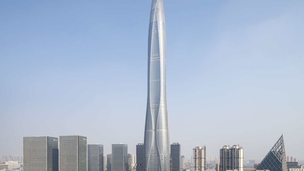 An image of the Tianjin World Financial Center in China, a new supertall skyscraper that opened last year.