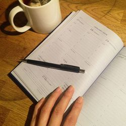 My Sunday nights are usually pretty quiet. I think if I'm more organized this year, I'll cut down on some of my daily stress. I've been using a traditional planner for the past seven years and I love it. Something about the feeling of the bound book can g