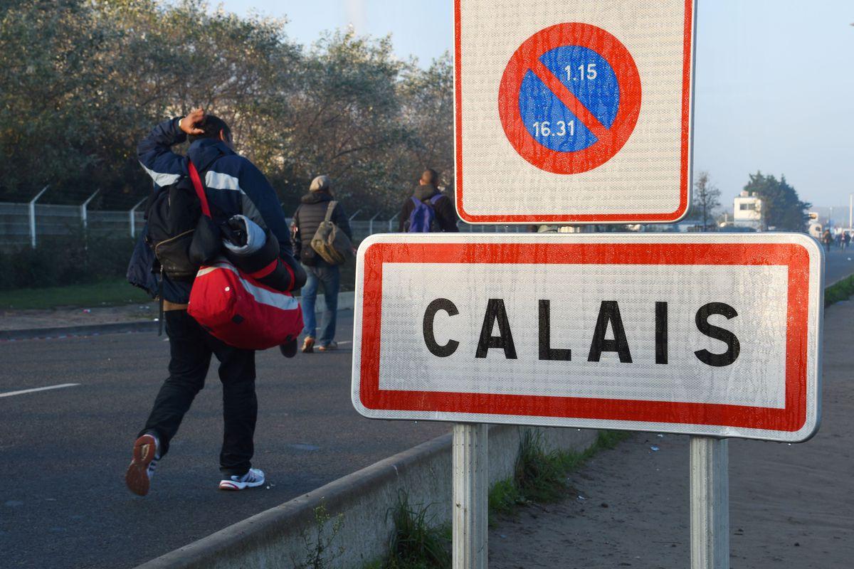 Calais jungle camp migrant evacuation