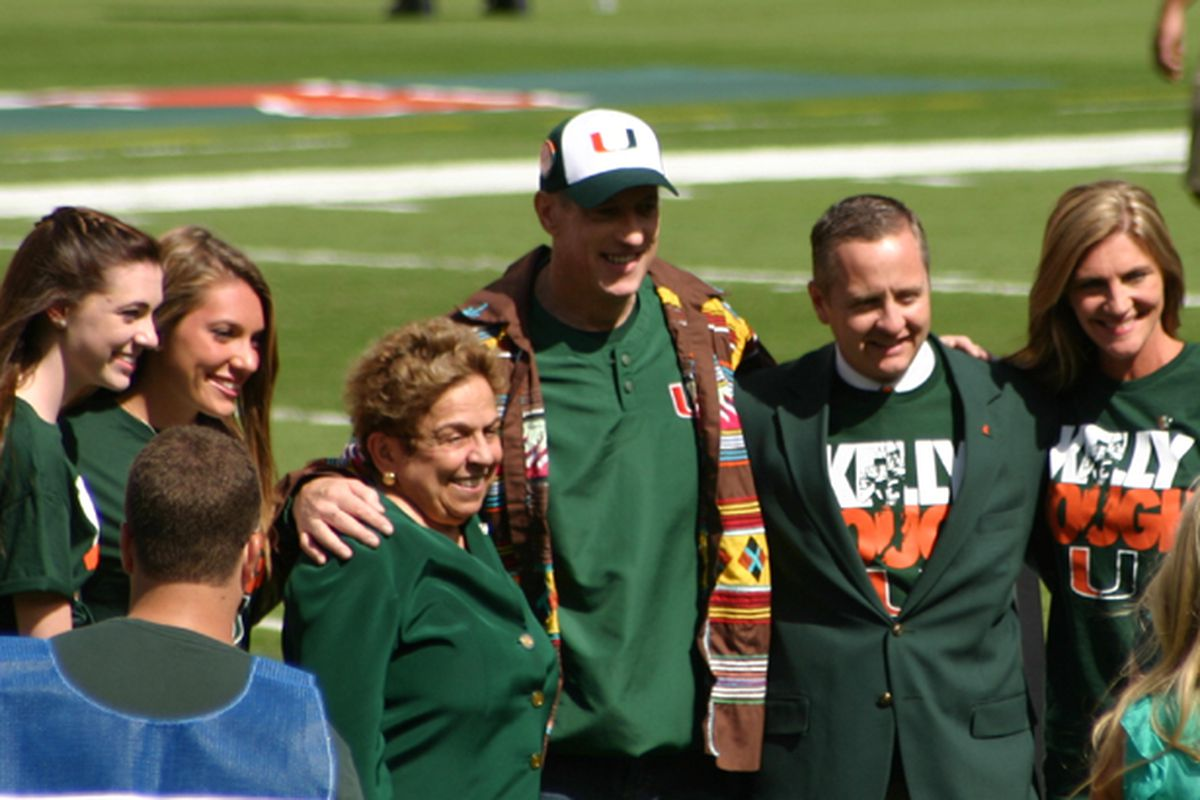 Former Cane and NFL HOFer Jim Kelly being honored by the University of Miami
