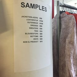 Samples are not further discounted