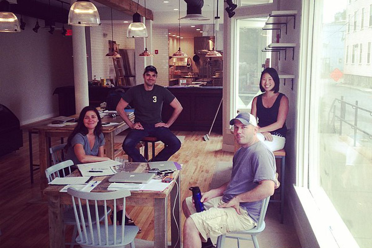 The first house meeting of Saltbox Kitchen staff