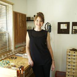 The designer inside her Highland Park studio.