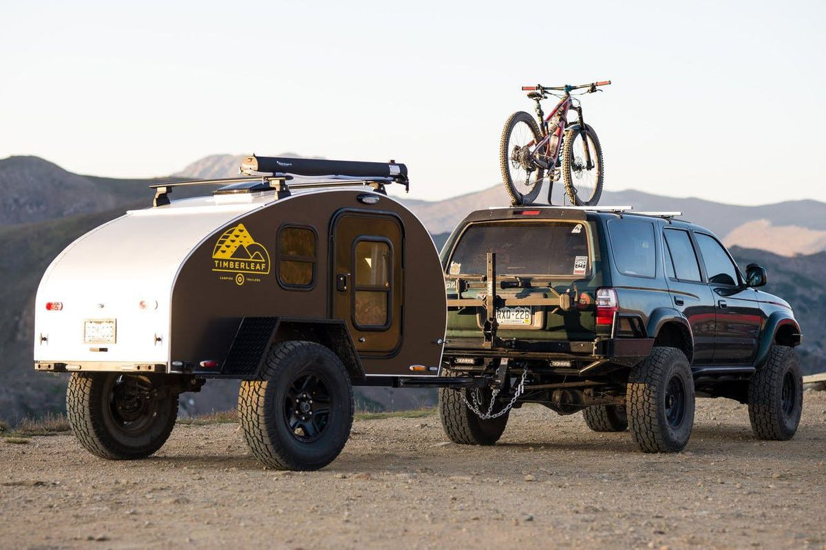 The Pika teardrop trailer from Timberleaf Trailers is a tiny take on a  classic shape. Courtesy of Timberleaf Trailers