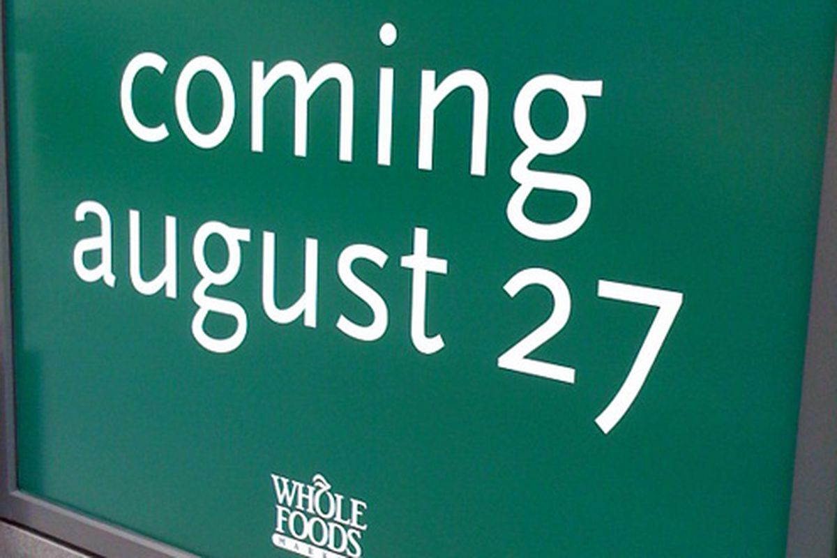The Whole Foods at 808 Columbus Ave now has an official opening date
