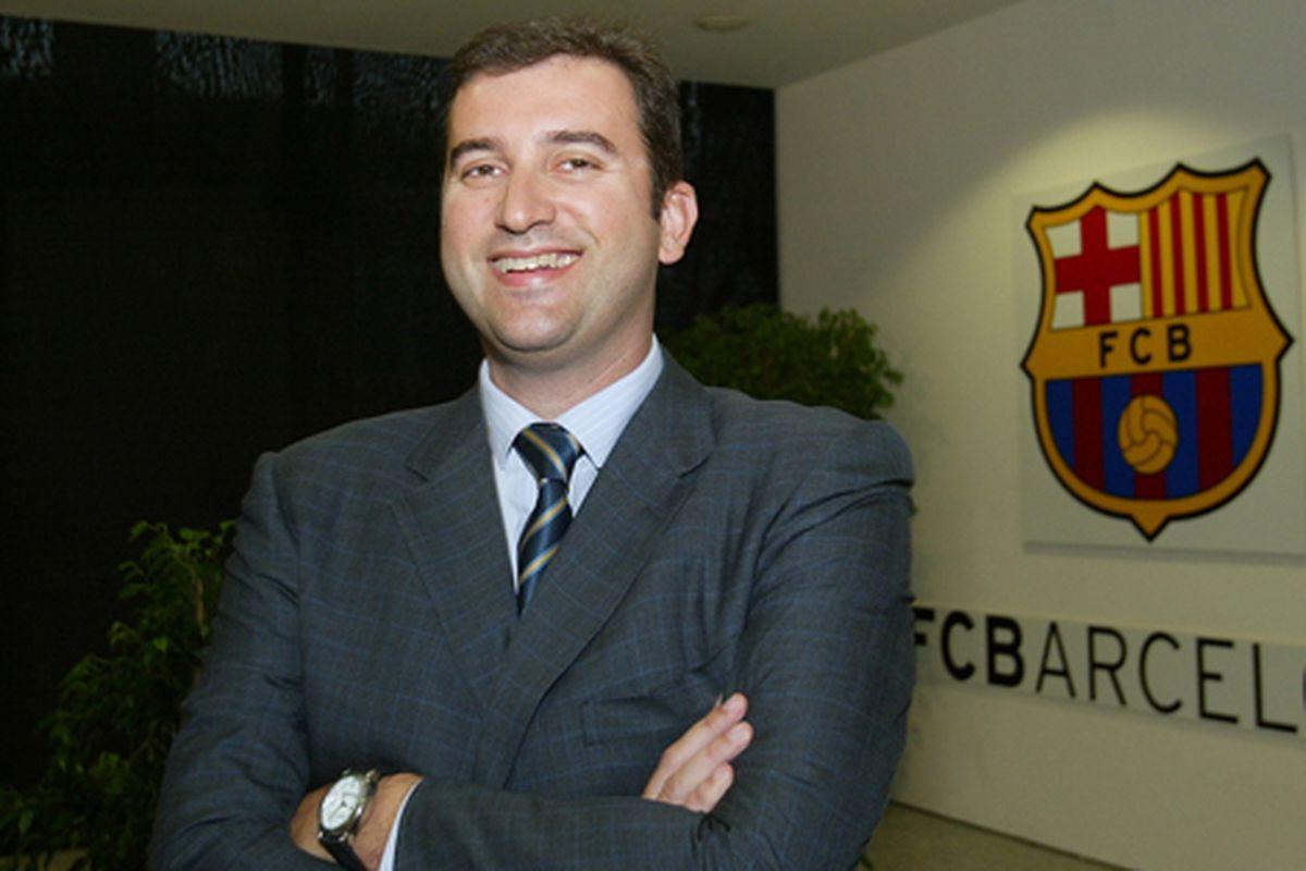 Ferran Soriano in his Barcelona days.