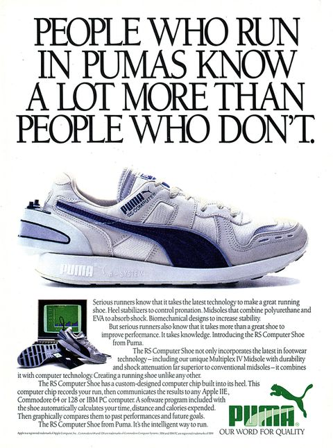 Puma is rereleasing its classic 1986 RS Computer running