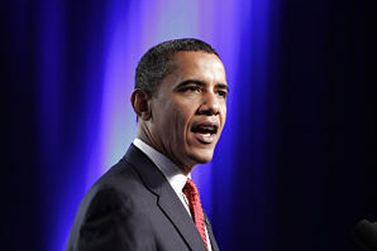 President Barack Obama speaks at the Veterans of Foreign Wars National Convention in Phoenix Monday.