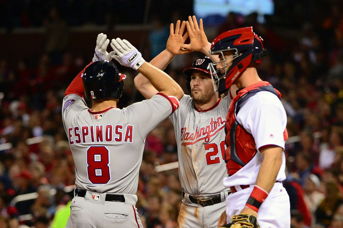 There were lots of high-fives going around for the Nats.
