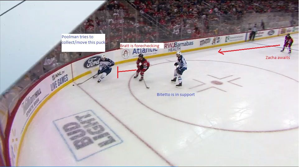Part 1: Bratt forechecks the Jets defense