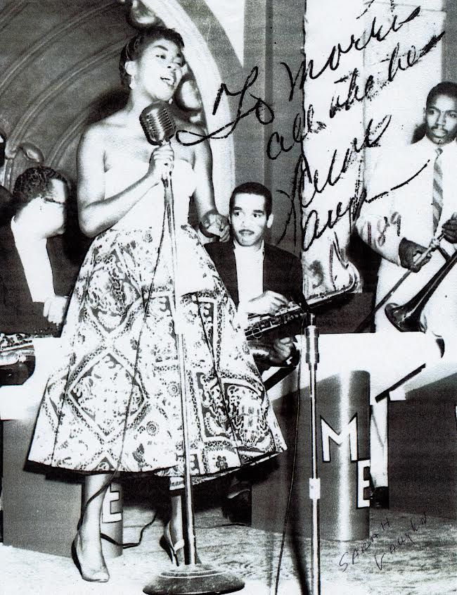 Morris Ellis (right) performs with legendary singer Sarah Vaughan.   Provided photo