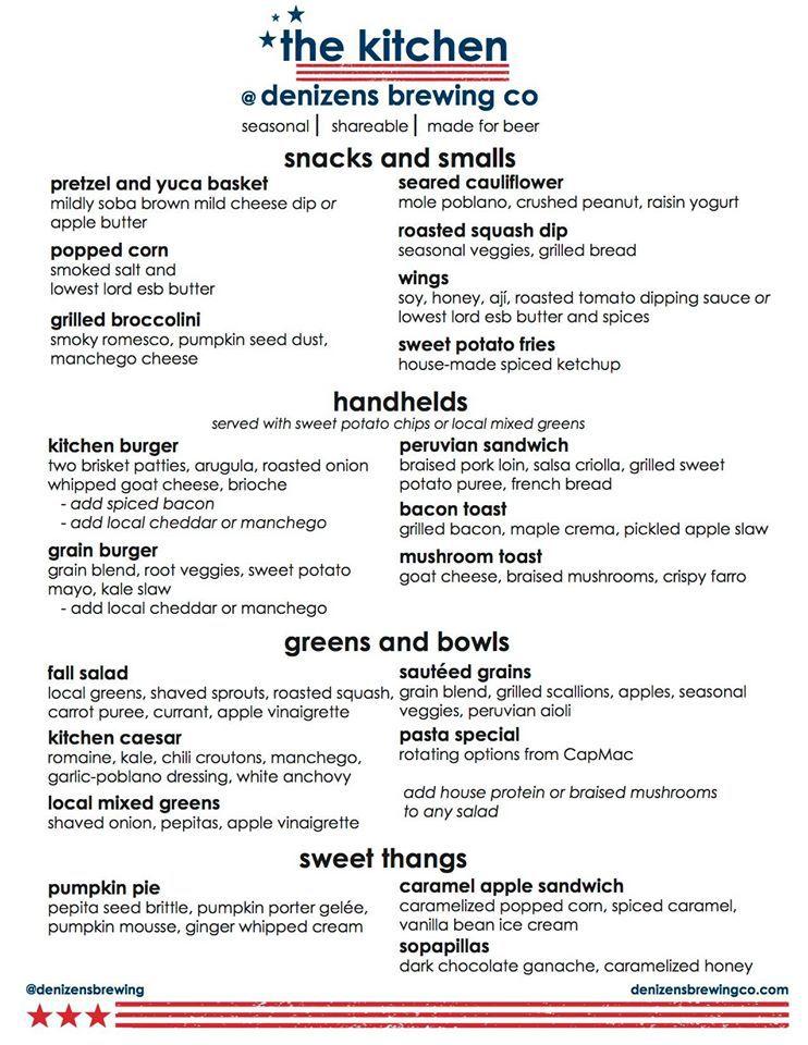 denizen menu
