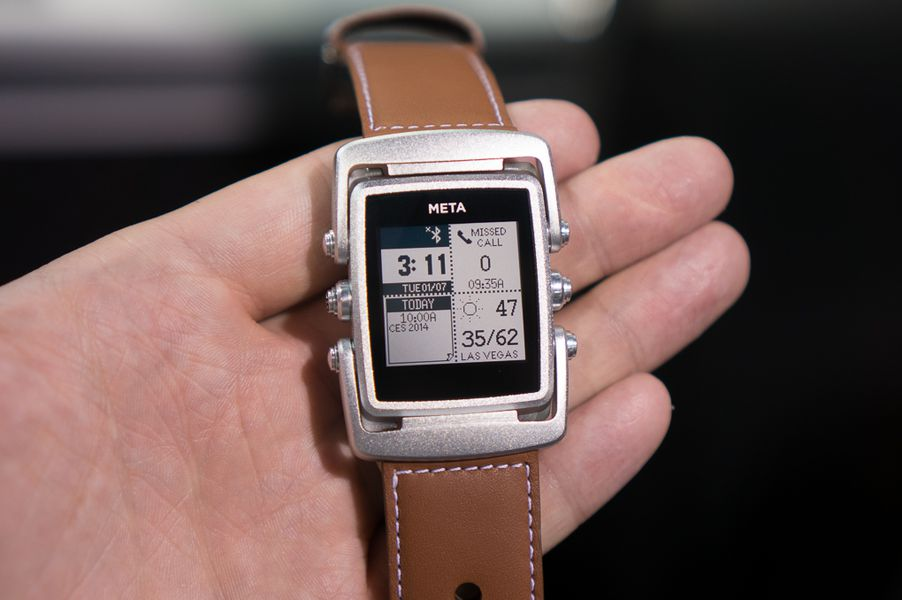 A quick look at MetaWatch's new premium smartwatch