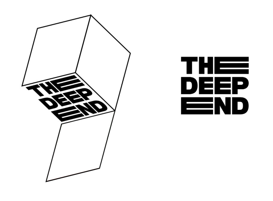 Logo lockups for The Deep End