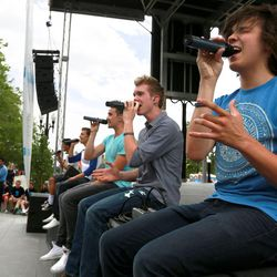 TJ Ryan, right, and Beyond 5 perform at Five-O Fest, a free community festival hosted by the Utah Anti-Bullying Coalition, Safe2Help and the Salt Lake City Police Foundation outside of the Public Safety Building in Salt Lake City on Saturday, May 31, 2014.