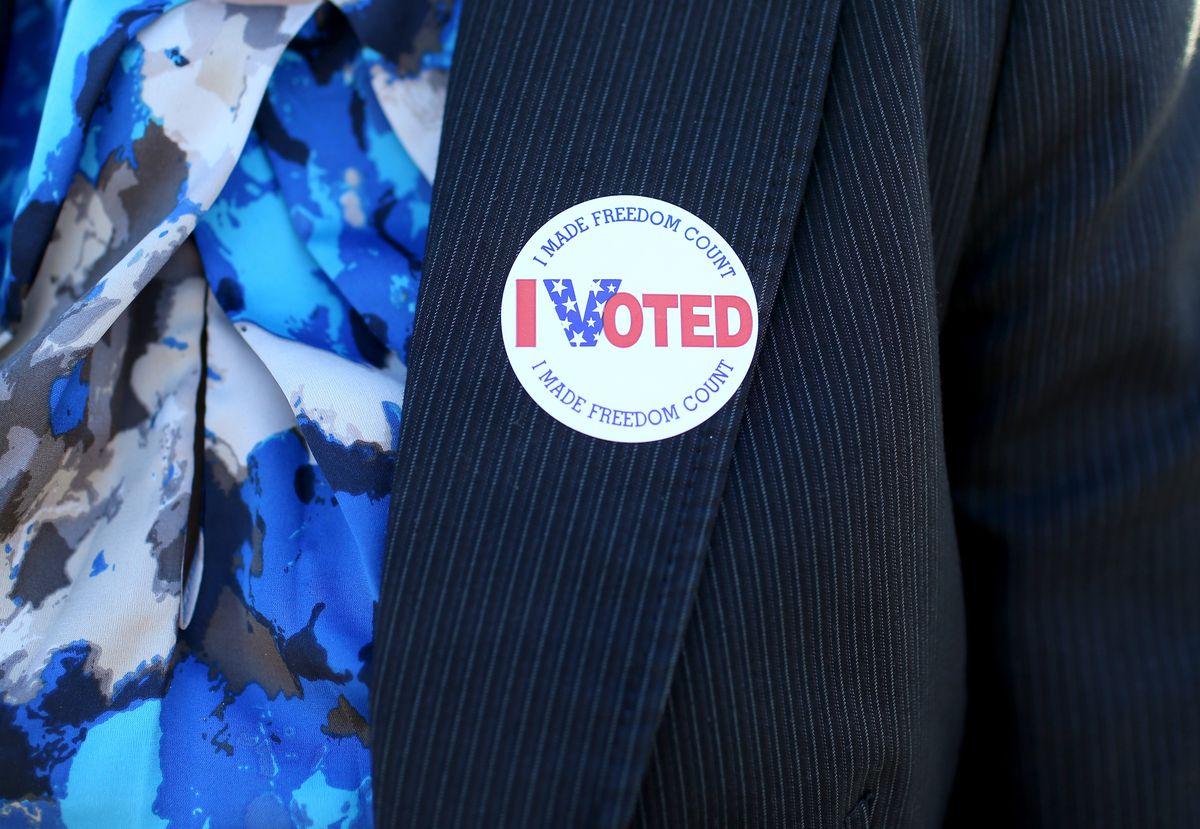 """I Voted"" sticker in Florida"