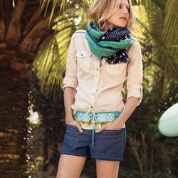 """<a href=""""http://www.toryburch.com/Tomboy-Chic/tomboychic,default,pd.html?start=2&cgid=newarrivals-lookbook"""">Brigitte blouse</a>, $195"""