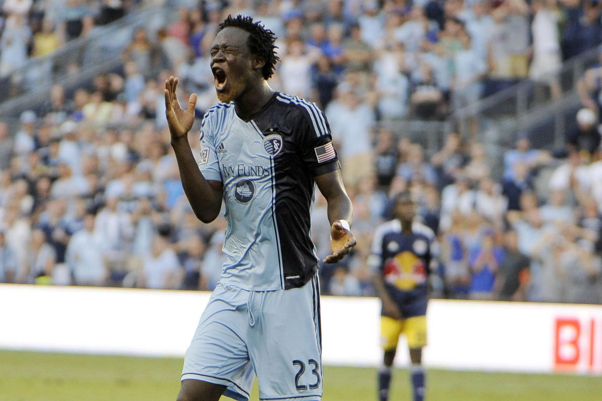 Kei Kamara returned to Sporting Kansas City after playing for Norwich City in the English Premier League