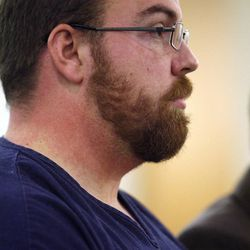 FILE - Joshua Platte Shumway makes his initial court appearance Thursday, Dec. 12. 2013, in 8th District Court in Duchense. Shumway, 26, filed a complaint in U.S. District Court Wednesday, Jan. 20, 2016, against Roosevelt police detective Peter Butcher, the city of Roosevelt and five others who remained unnamed in court documents but are all described as police officers.