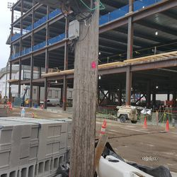 Wider view, north side of plaza building -