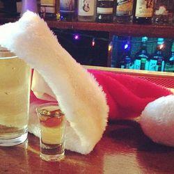 "A Drunk Santa still life at Rudy's Bar & Grill.  Via <a href=""http://instagram.com/p/TRMlcdLzSS/"">Instagram/gailie</a>."