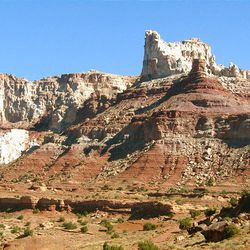 18. The towering Temple Mountain isn't in Crack Canyon but is worth seeing. The mountain is about 4.5 miles from the trailhead.