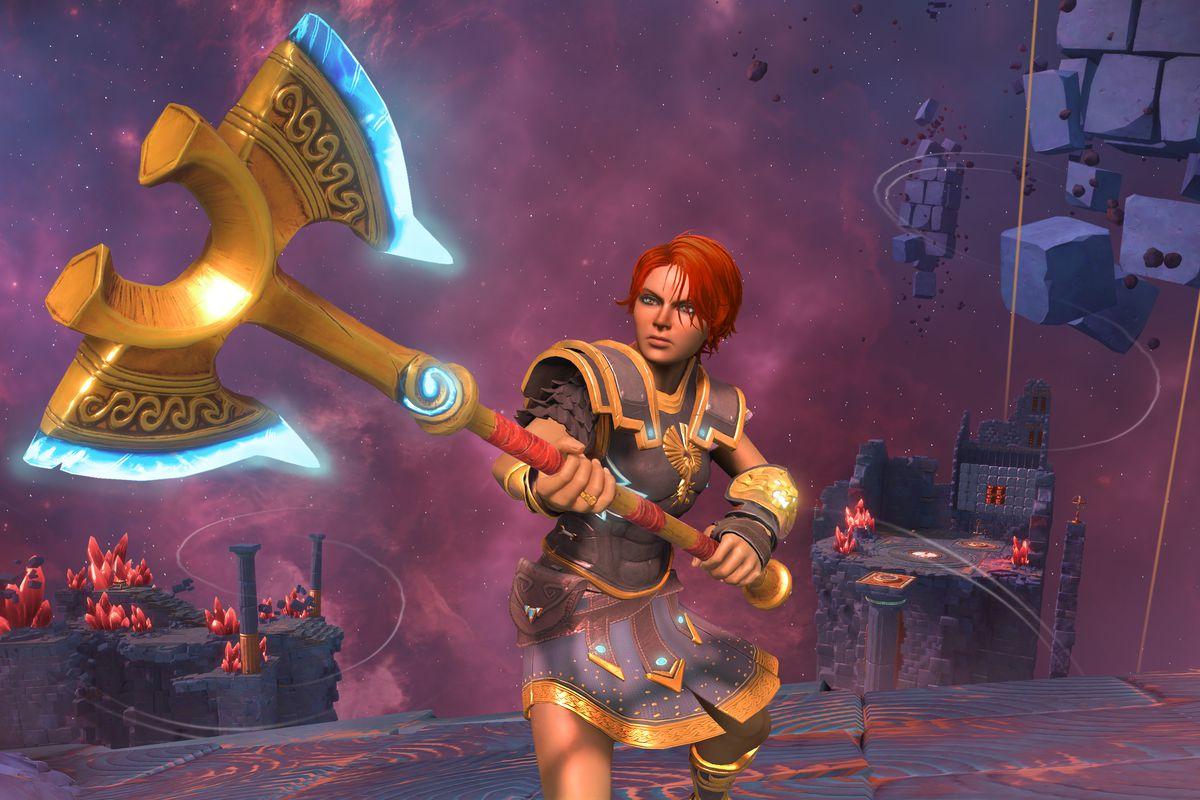 Immortals Fenyx Rising's protagonist, Fenyx, wields an ax