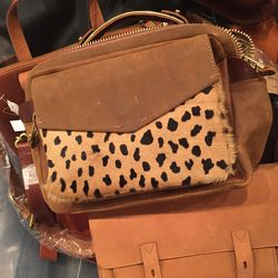 Medium leather bag, $90