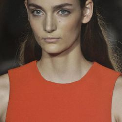 Fashion from the Spring 2013 collection of Victoria Beckham is modeled on Sunday, Sept. 9, 2012 in New York.