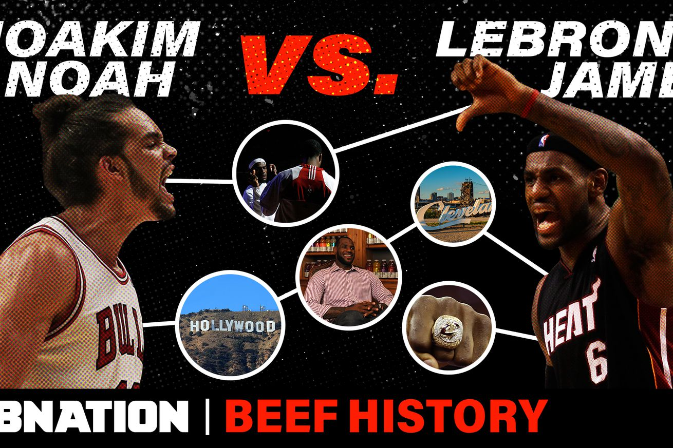 SBN BFH 042 LebronNoah.0 - LeBron James attracts many pests, but Joakim Noah might be the best player to ever beef with him