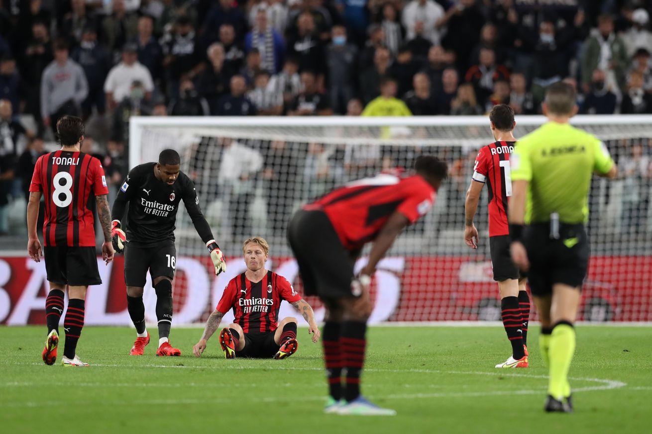 AC Milan Worried As Starting Centre Back Picks Up Injury Against Juventus