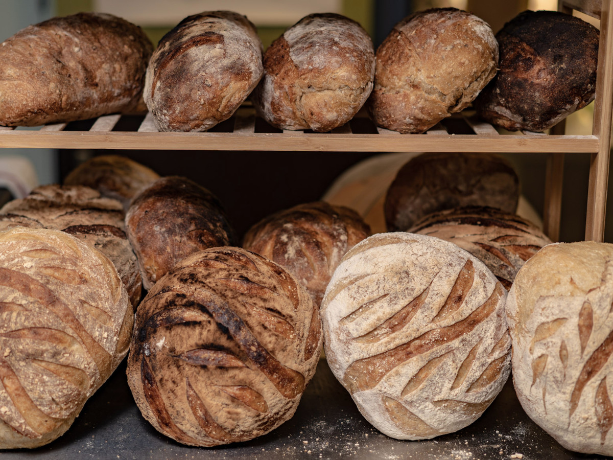 Loaves of bread at Central Park Cafe, one of East Ham's best restaurants