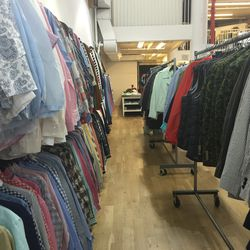 The row of women's apparel