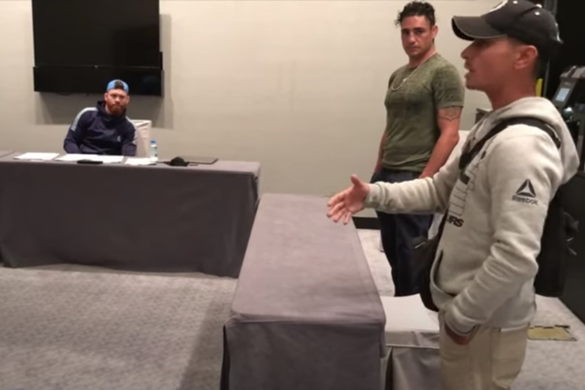 Diego Sanchez's head coach Joshua Fabia had a lot to say during the UFC 253 fighter meeting in September.