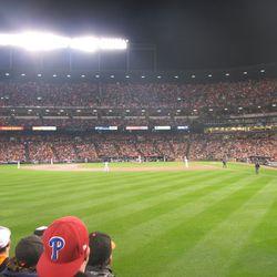 First inning of playoff baseball at Camden Yards
