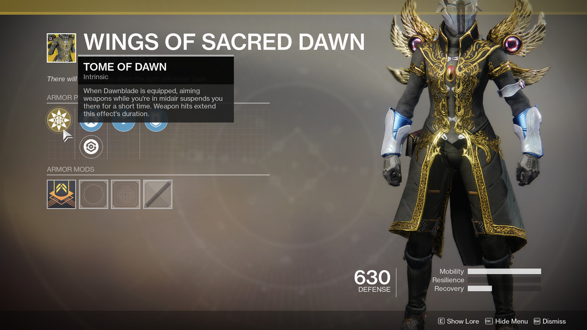 Wings of Sacred Dawn Exotic Destiny 2