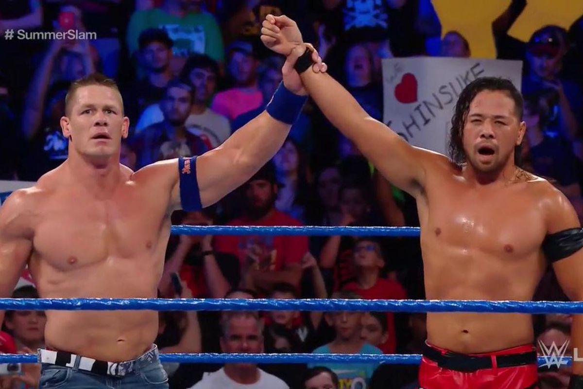 Reakcja Vince'a McMahona na lądowanie Johna Ceny w walce z Nakamurą