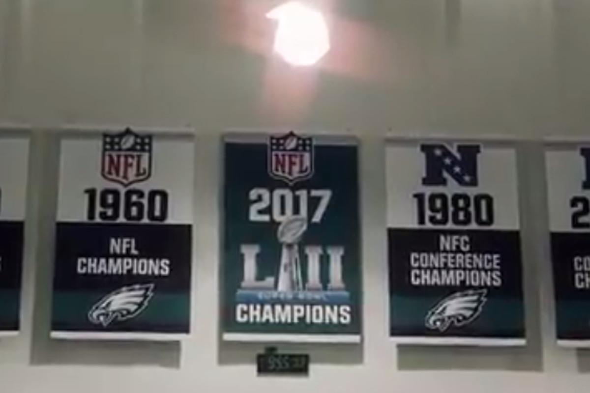 Image result for eagles banner raising