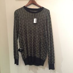 Hash crew knit sweater, $59.50