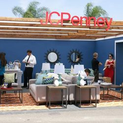 The JCPenney lounge before guests invaded its sun-protecting roof.