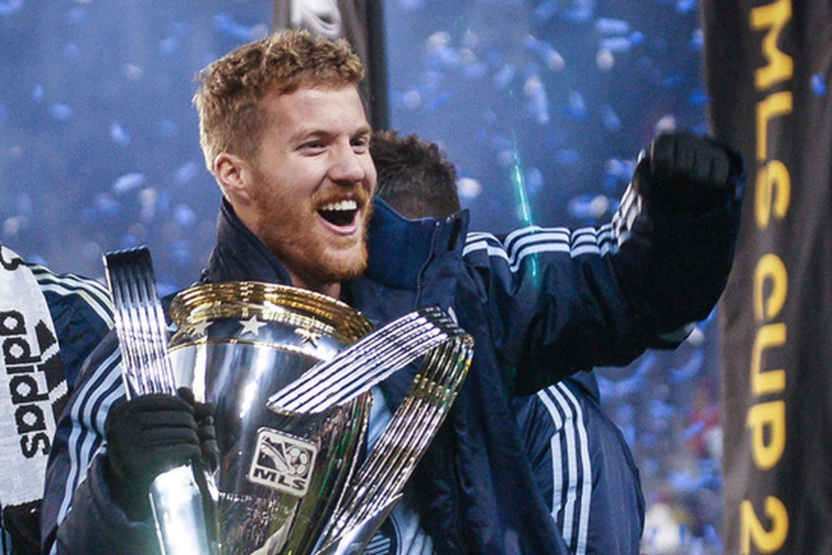 Rosell with the MLS Cup