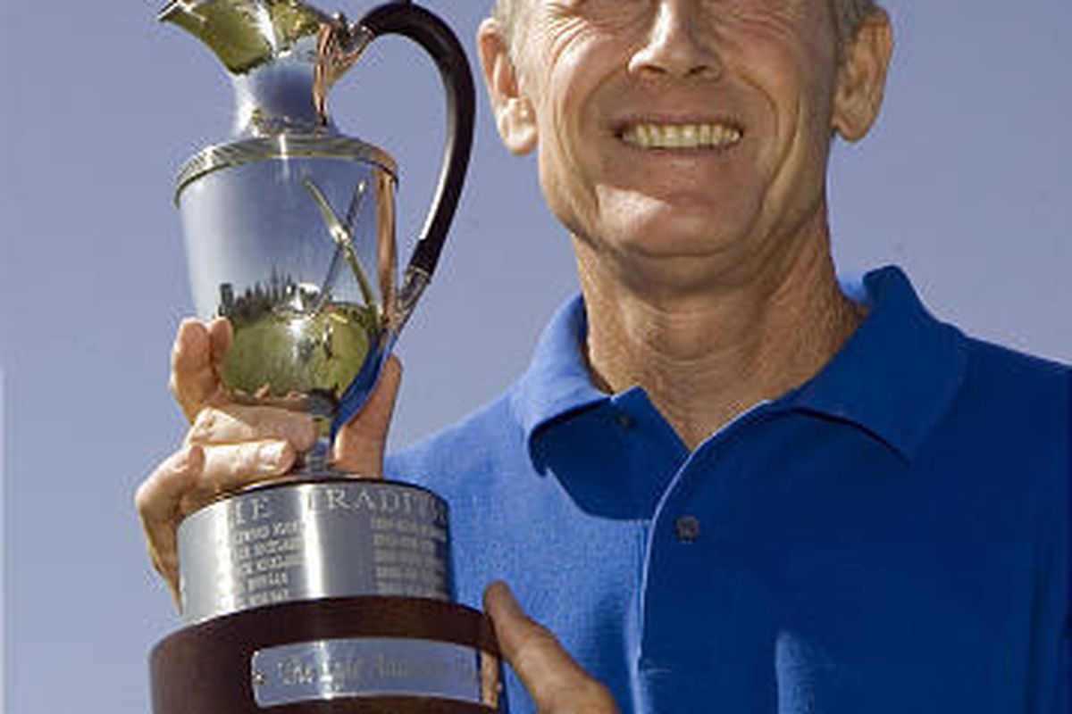 Former BYU golfer Mike Reid won the JELD-WEN Tradition golf tournament in a playoff last weekend.