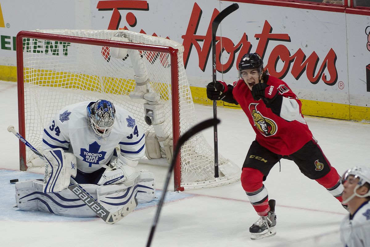 The exact moment that Jean-Gabriel Pageau remembered how awesome Erik Karlsson is