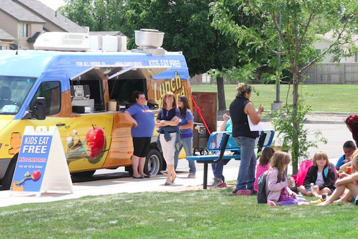 """The Mesa County Valley district launched a mobile meals program in 2015 after receiving $58,000 from the Western Colorado Community Foundation. The """"Lunch Lizard"""" van stops at five locations a day, including parks and apartment complexes."""