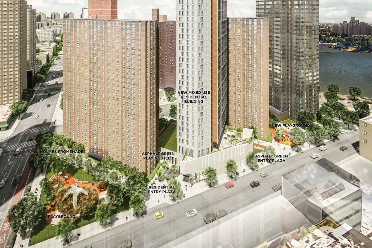 An artist's rendering of the Holmes Towers project.