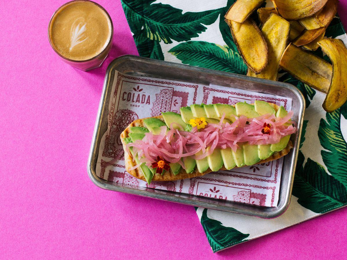 A breakfast sandwich at Colada Shop