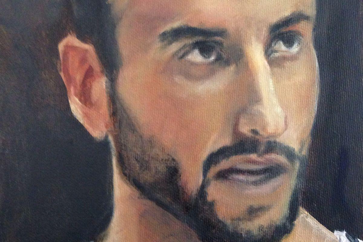 Manu Ginobili - oil on canvas