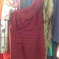 Robert Rodriguez Black Label sophisticated merlot dress, $138 (was $650)