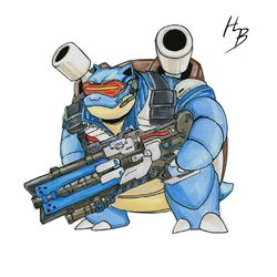Blastoise is an especially beefy Soldier: 76.