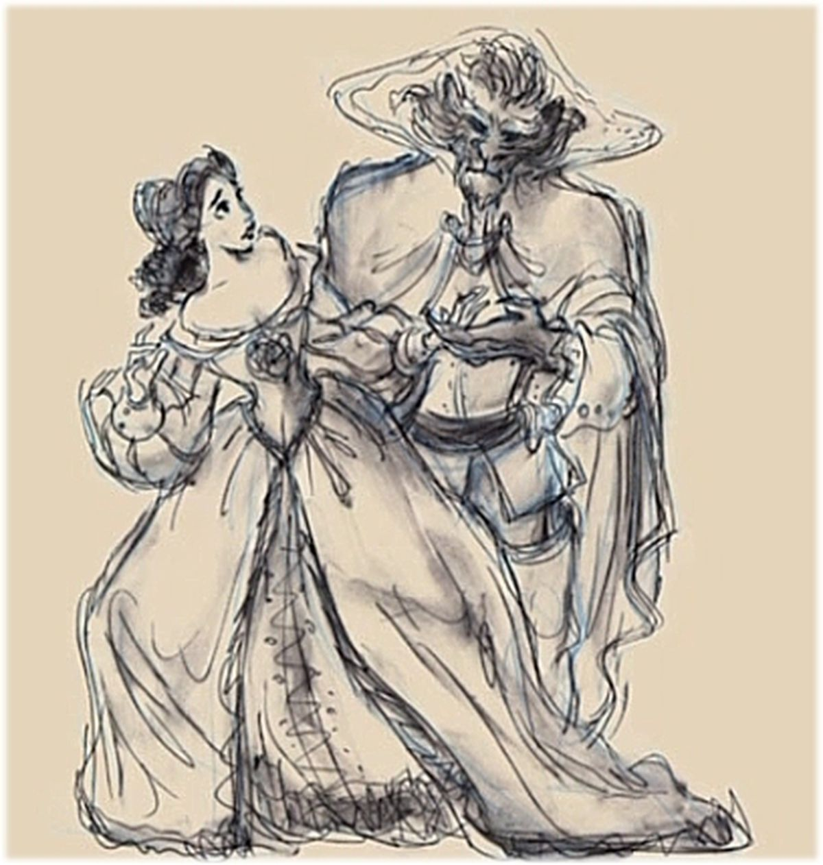 Andreas Dejas Original Concept Art For Belle And The Beast Tale As Old Time Making Of Disney Beauty